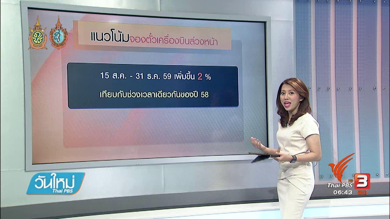 วันใหม่  ไทยพีบีเอส - จับสัญญาณเศรษฐกิจ : แผนฟื้นฟูการท่องเที่ยวไทย