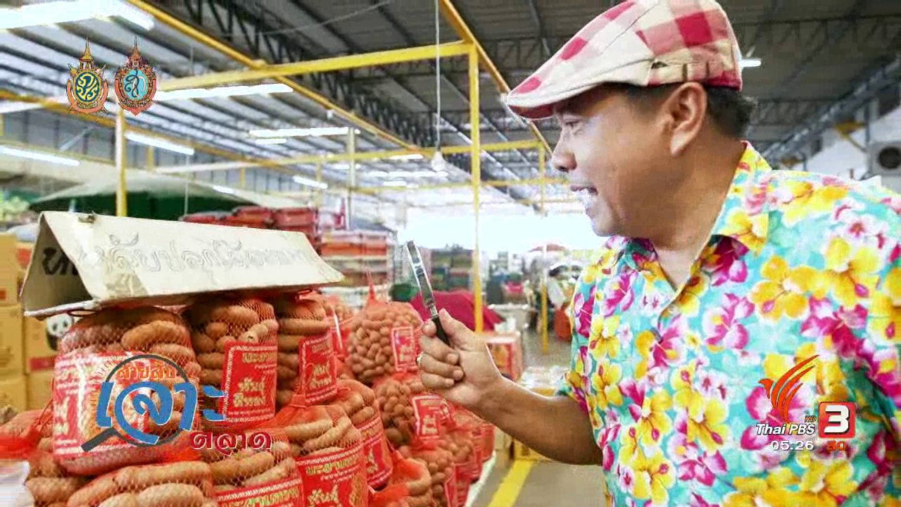 วันใหม่  ไทยพีบีเอส - สายสืบเจาะตลาด : สำรวจราคาผลไม้ ที่ตลาดศรีเมือง จ.ราชบุรี