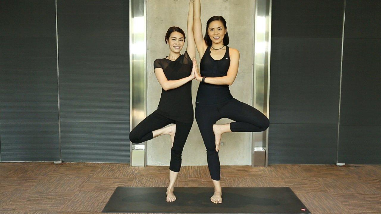 คนสู้โรค - เปลี่ยนก่อนป่วย : Partner  Yoga ช่วยกันยืดเหยียดในท่ายืน