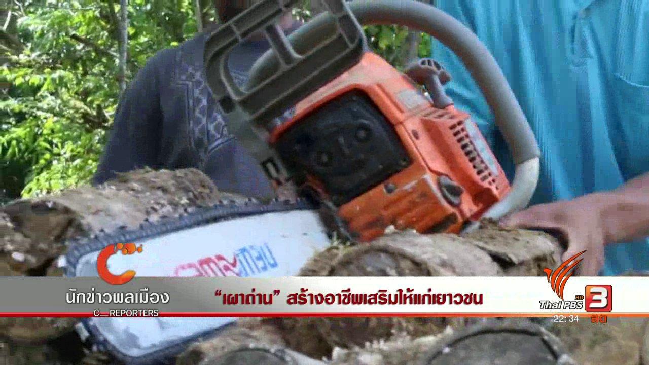 """ที่นี่ Thai PBS - นักข่าวพลเมือง : """"เผาถ่าน"""" สร้างอาชีพเสริมให้แก่เยาวชน"""