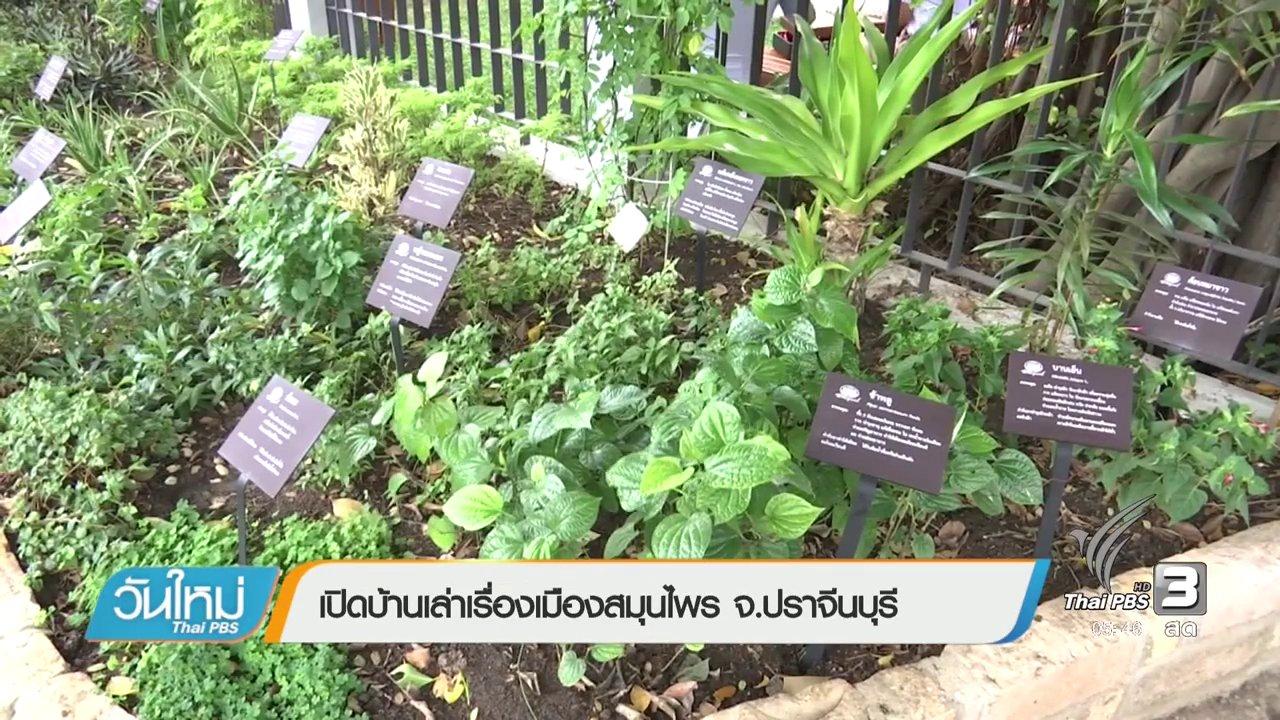 วันใหม่  ไทยพีบีเอส - เปิดบ้านเล่าเรื่องเมืองสมุนไพร จ.ปราจีนบุรี