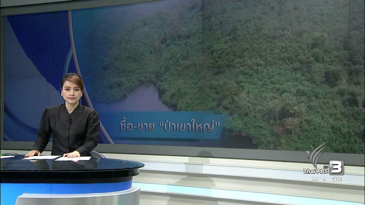 """ที่นี่ Thai PBS - ข้อสงสัย """"ป่าเขาใหญ่"""" ถูกซื้อขายเปลี่ยนมือ"""