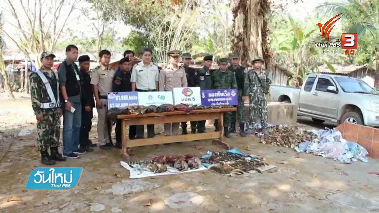 วันใหม่  ไทยพีบีเอส - ยึดซากสัตว์ป่าจุดผ่อนปรนไทย - ลาว จ.หนองคาย
