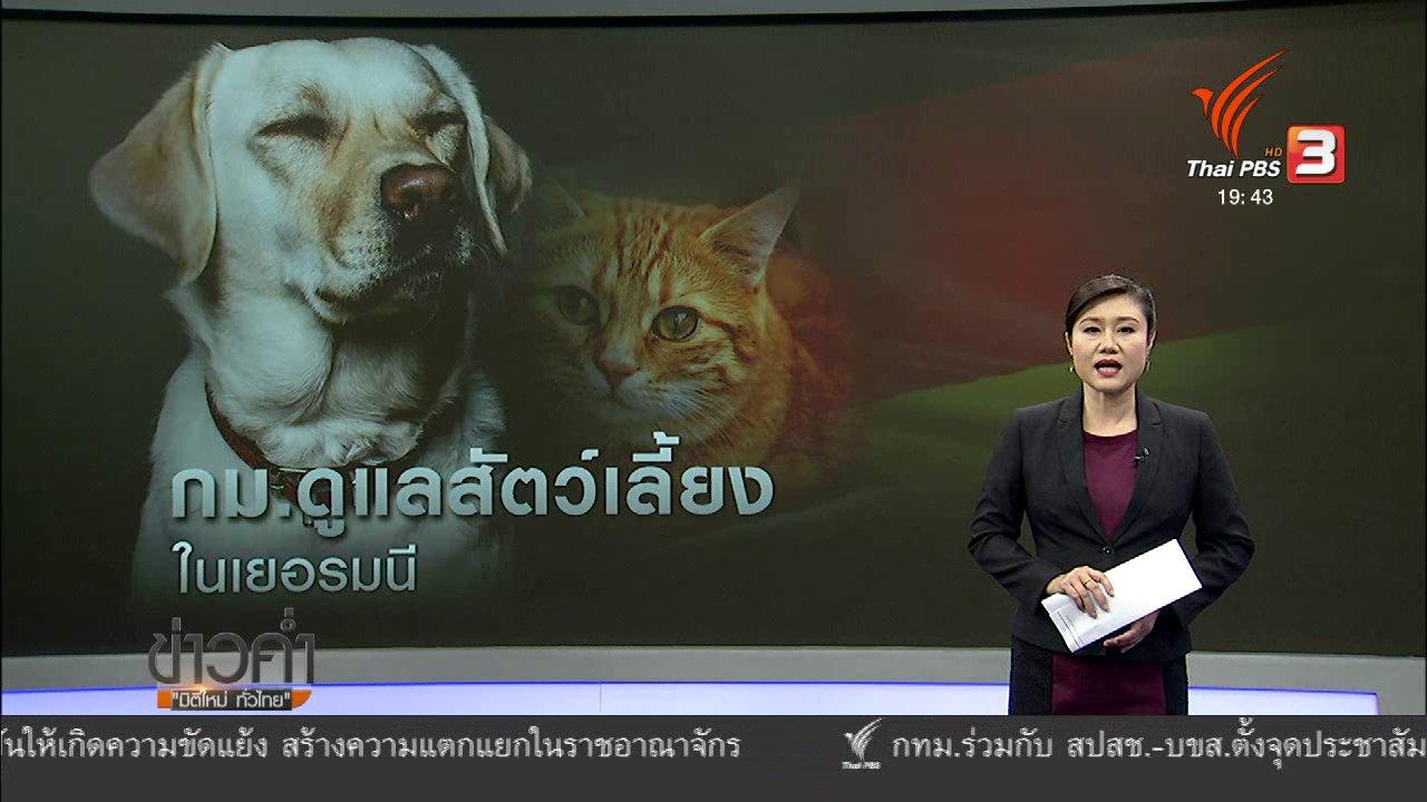 ข่าวค่ำ มิติใหม่ทั่วไทย - วิเคราะห์สถานการณ์ต่างประเทศ: กฎหมายสัตว์เลี้ยงเยอรมนี
