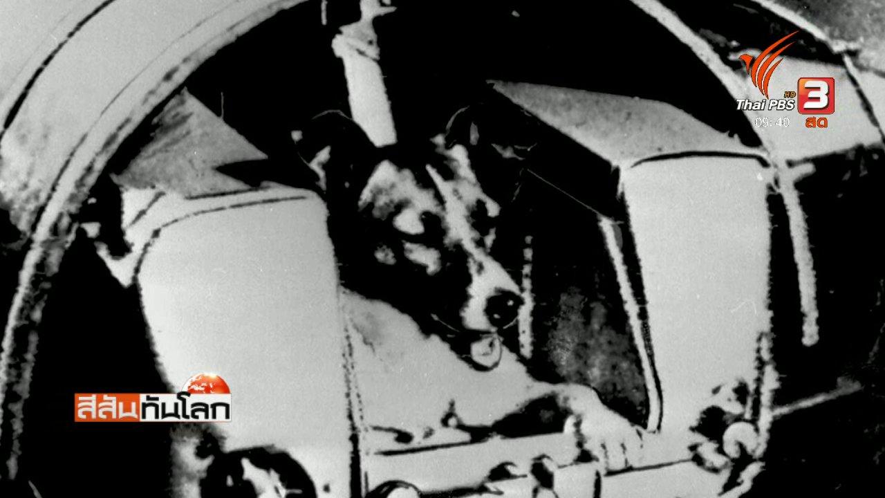 """สีสันทันโลก - รำลึก 60 ปี ส่งสุนัข """"ไลก้า"""" ขึ้นสู่อวกาศ"""