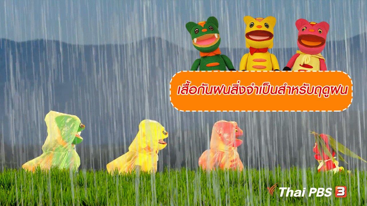 TataTitiToto ไดโนมหัศจรรย์ - เกร็ดน่ารู้กับตาต้าตีตี้โตโต้ : เสื้อกันฝนสิ่งจำเป็นสำหรับฤดูฝน