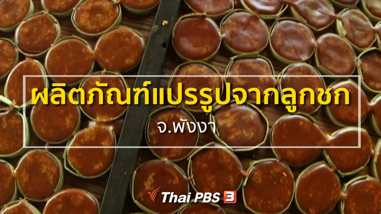 ทุกทิศทั่วไทย - ชุมชนทั่วไทย  ผลิตภัณฑ์แปรรูปจากลูกชก จ.พังงา