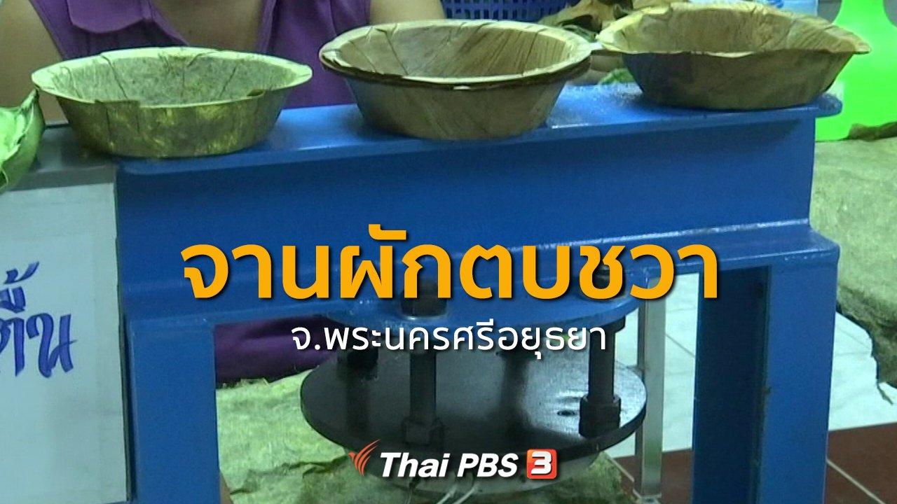 ทุกทิศทั่วไทย - ชุมชนทั่วไทย : จานผักตบชวา จ.พระนครศรีอยุธยา
