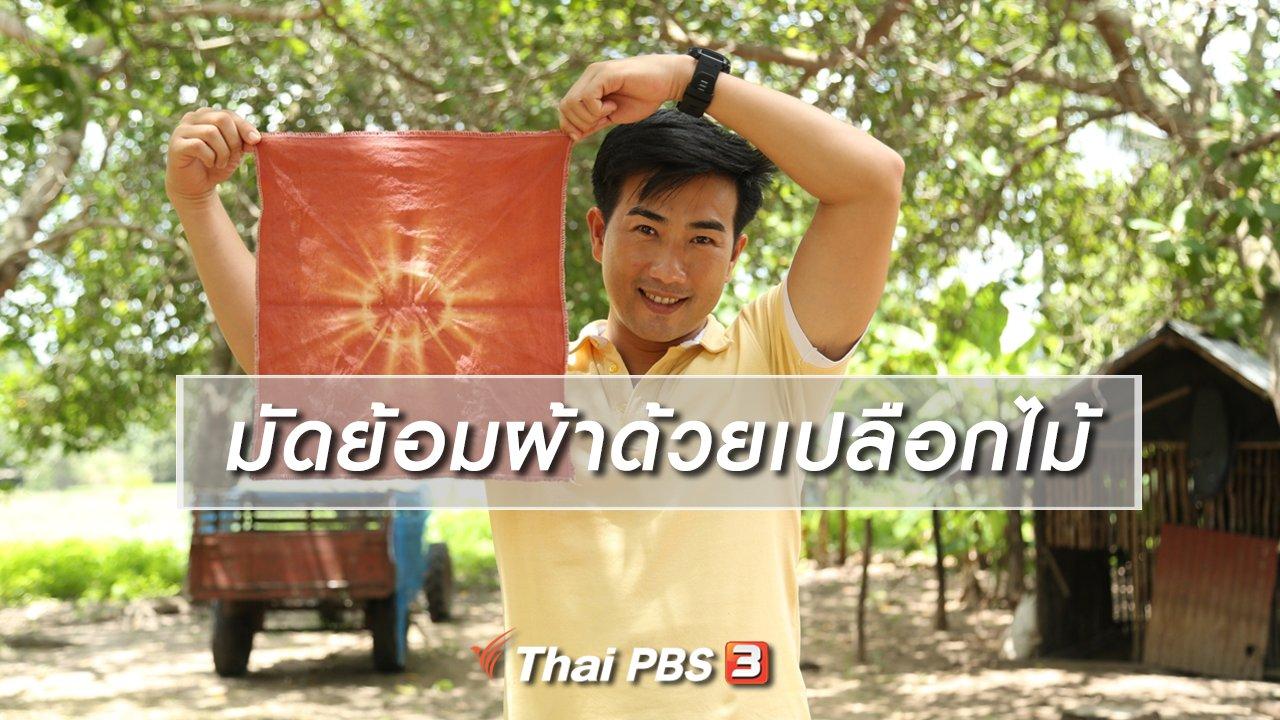 ทั่วถิ่นแดนไทย - เรียนรู้วิถีไทย : มัดย้อมผ้าด้วยเปลือกไม้