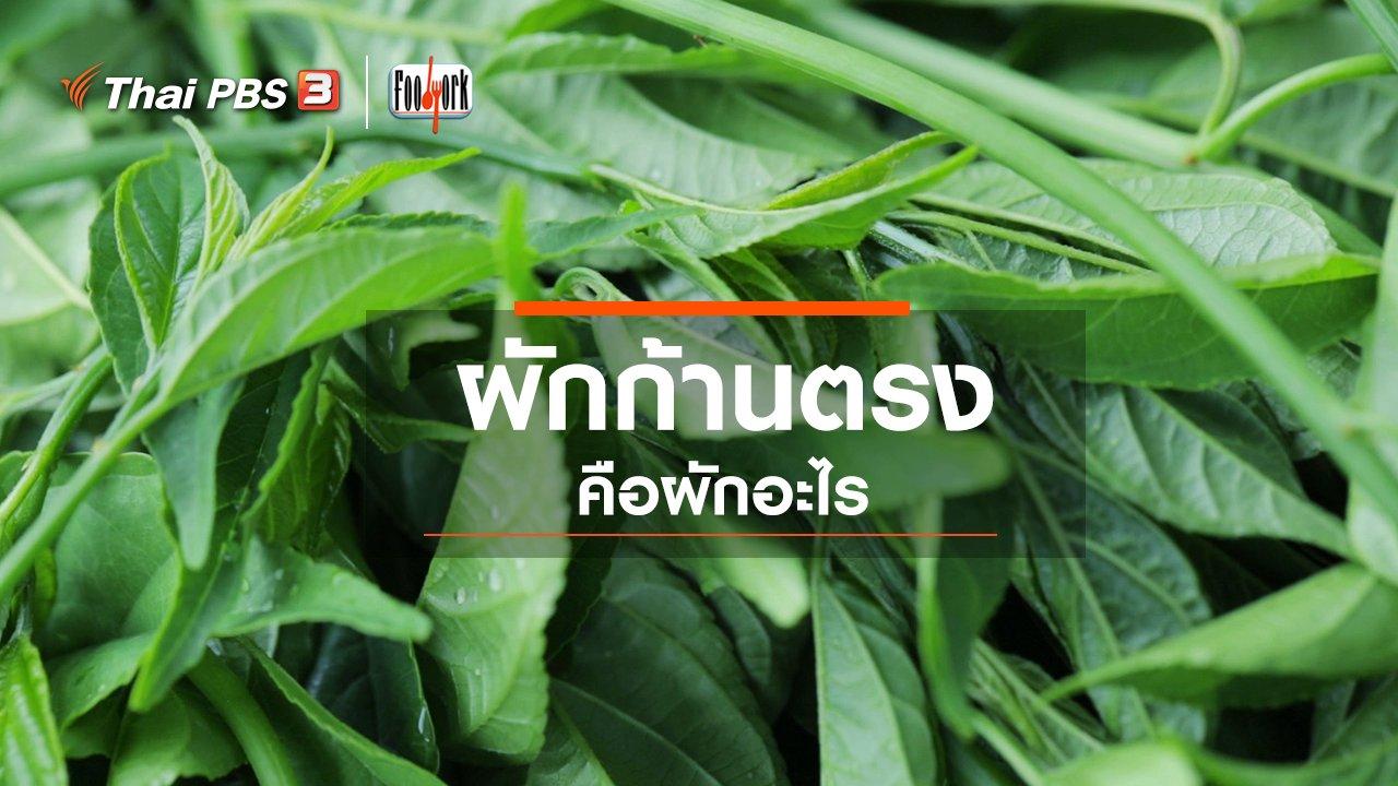 Foodwork - ผักก้านตรงคือผักอะไร