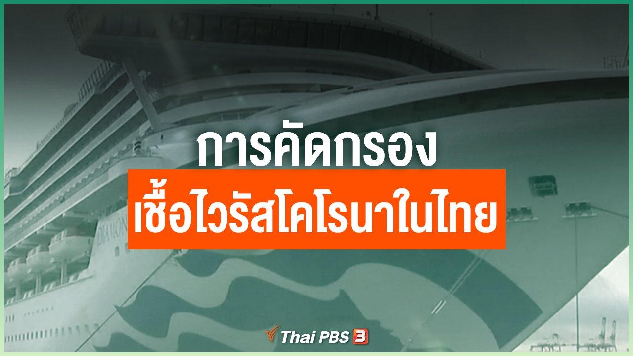 Coronavirus - การคัดกรองเชื้อไวรัสโคโรนาในไทย