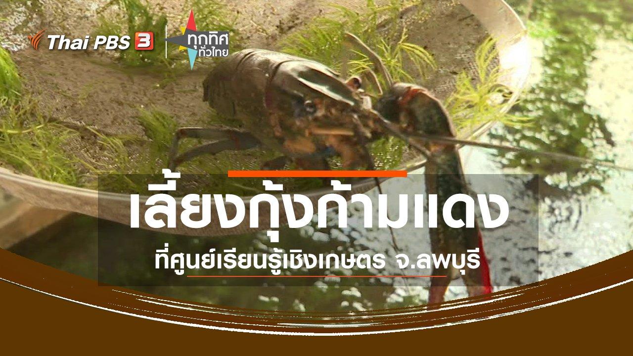 ทุกทิศทั่วไทย - ชุมชนทั่วไทย : เลี้ยงกุ้งก้ามแดงที่ศูนย์เรียนรู้เชิงเกษตร จ.ลพบุรี