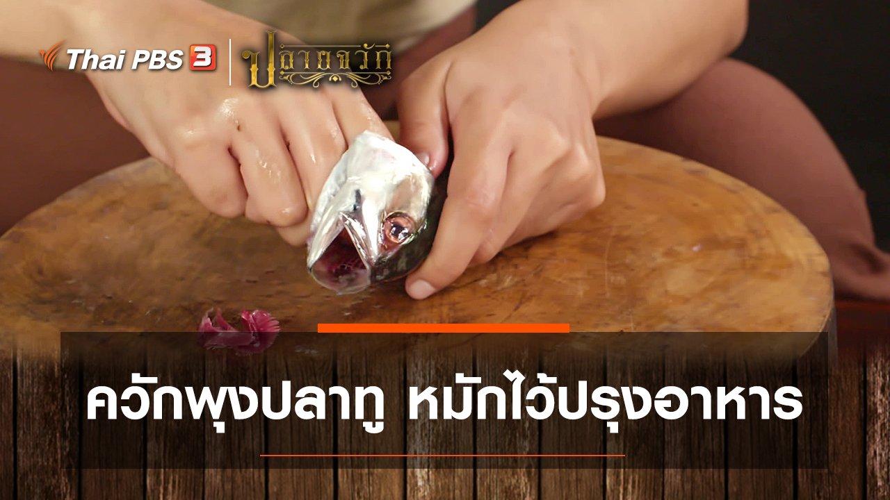 ปลายจวัก - ควักพุงปลาทู หมักไว้ปรุงอาหาร