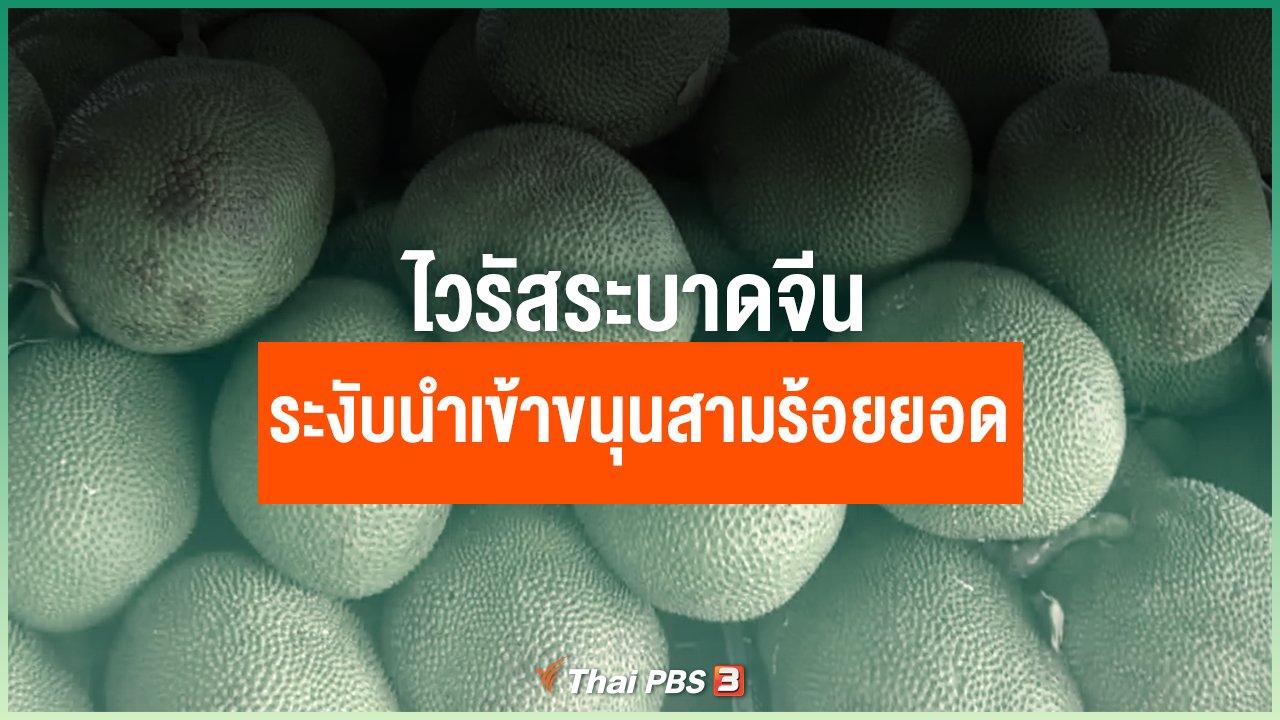 Coronavirus - ไวรัสระบาดจีนระงับนำเข้าขนุนสามร้อยยอด
