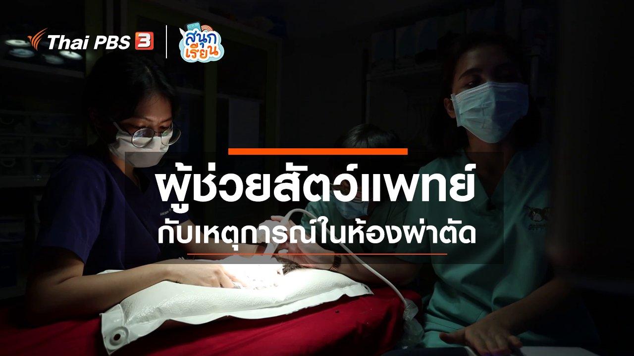 สนุกเรียน - วิชาประสบการณ์ชีวิต : ผู้ช่วยสัตว์แพทย์กับเหตุการณ์ในห้องผ่าตัด