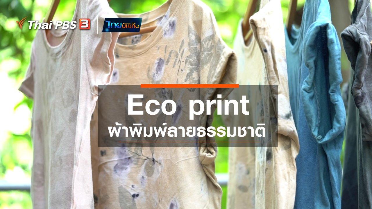 ไทยบันเทิง - หัวใจในลายผ้า : Eco print ผ้าพิมพ์ลายธรรมชาติ
