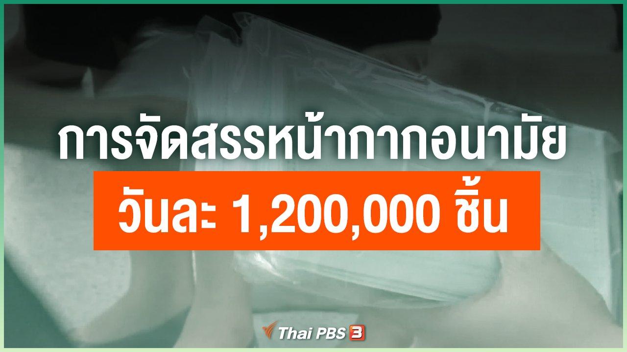 Coronavirus - การจัดสรรหน้ากากอนามัยวันละ 1,200,000 ชิ้น