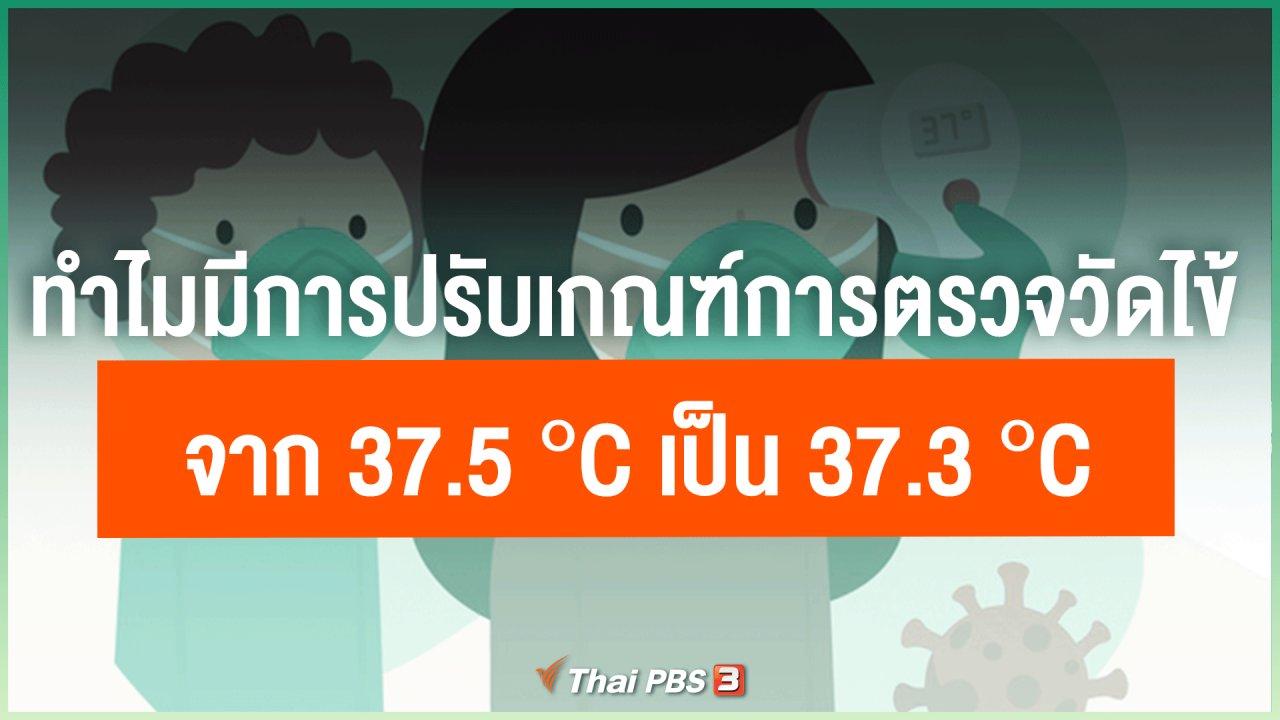 ไทยสู้โควิด-19 - ทำไมมีการปรับเกณฑ์การตรวจวัดไข้จาก 37.5 °C เป็น 37.3 °C