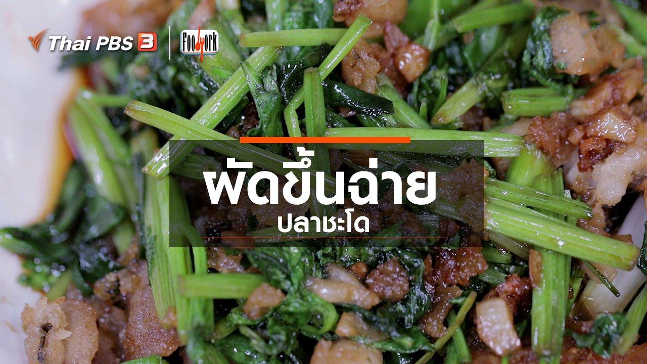 Foodwork - เมนูอาหารฟิวชัน : ผัดขึ้นฉ่ายปลาชะโด