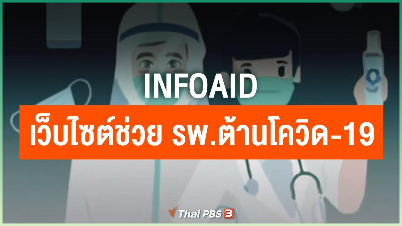 Coronavirus - infoAid เว็บไซต์ช่วยโรงพยาบาลต้านโควิด-19