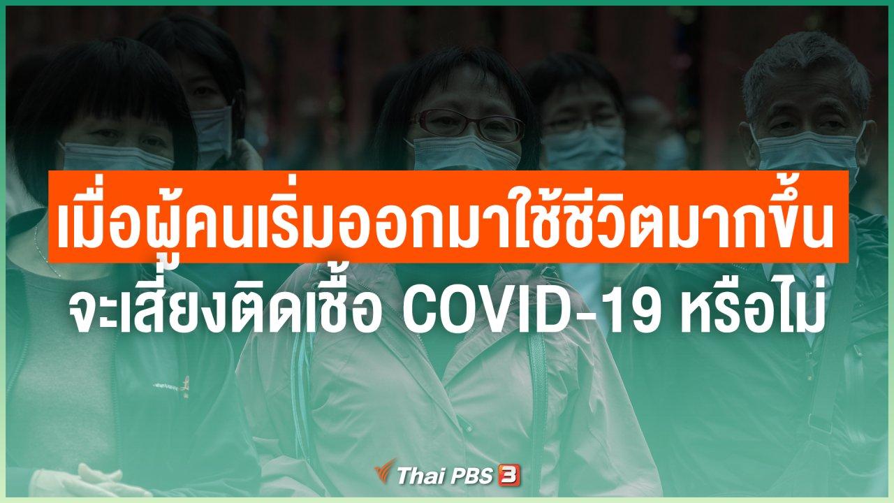 ไทยสู้โควิด-19 - เมื่อผู้คนเริ่มออกมาใช้ชีวิตมากขึ้น จะเสี่ยงติดเชื้อ COVID-19 หรือไม่
