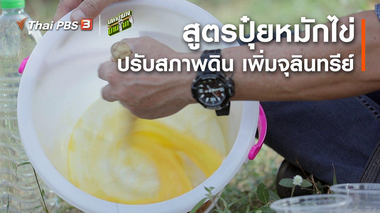 มหาอำนาจบ้านนา - สูตรลับฉบับบ้านนา : สูตรปุ๋ยหมักไข่