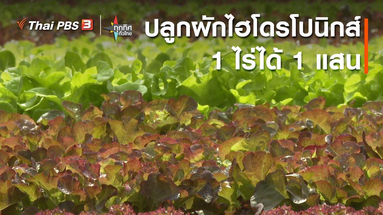ทุกทิศทั่วไทย - ปลูกผักไฮโดรโปนิกส์ 1 ไร่ได้ 1 แสน